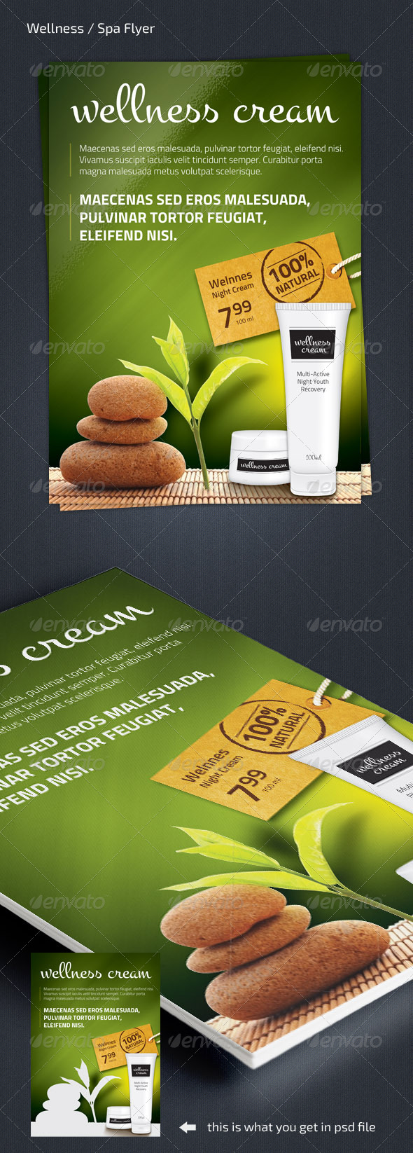 GraphicRiver Wellness Spa Product Flyer A4 210x297 7642914