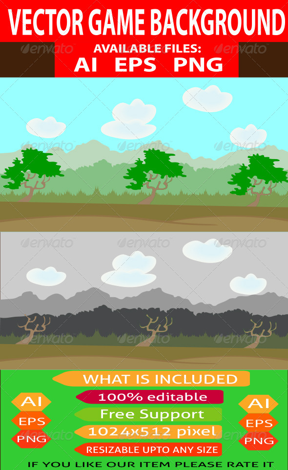 GraphicRiver Nature Game Background 7642979