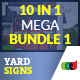 10 In 1 Real Estate Yard Signs Mega Bundle 1 - GraphicRiver Item for Sale