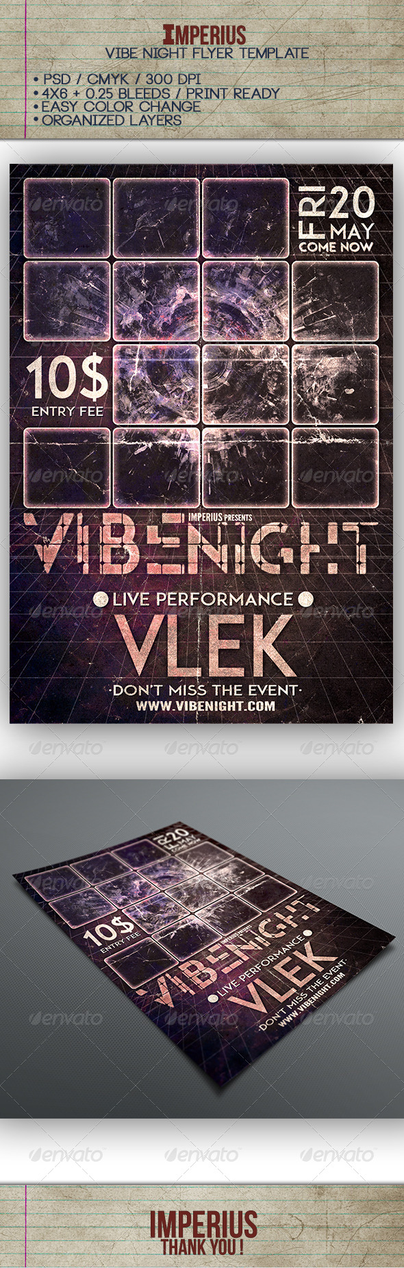 GraphicRiver Vibe Night Flyer 7643915