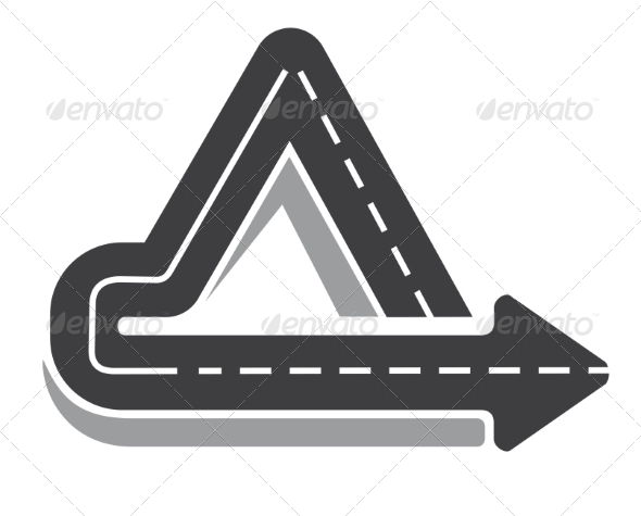 GraphicRiver Looping Triangular Tarred Highway 7643980