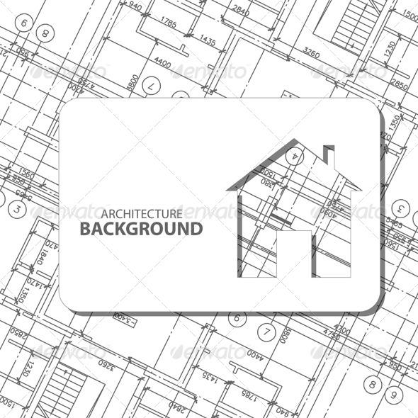GraphicRiver Black Architecture Background 7644010