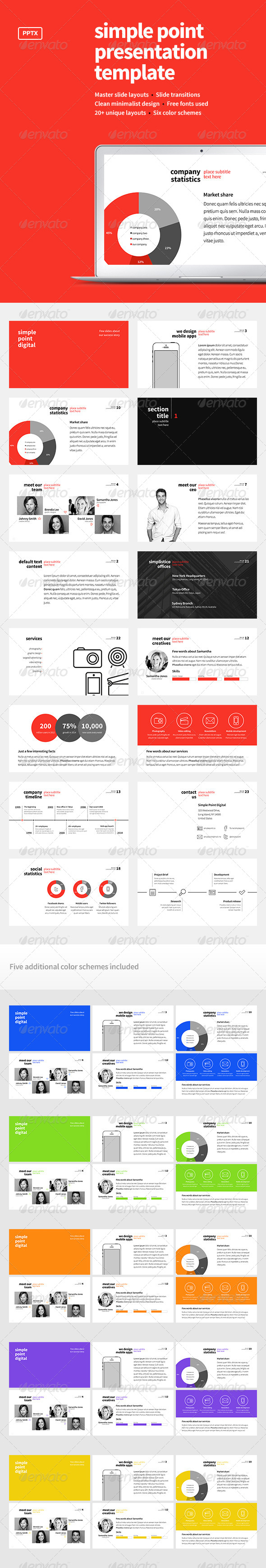 GraphicRiver Simple Point Presentation Template 7644063
