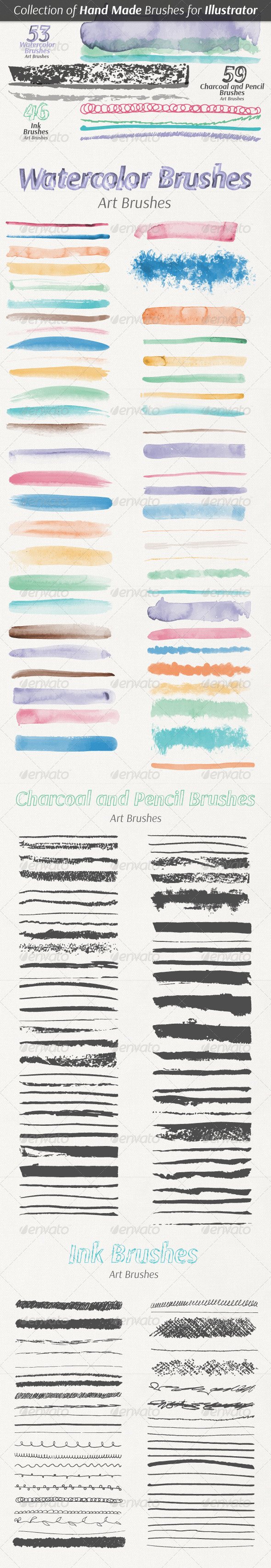 GraphicRiver Collection of Hand Made Brushes 7644175