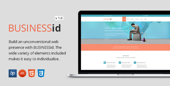 ThemeForest BusinessID Responsive HTML5 CSS3 Template 7644241