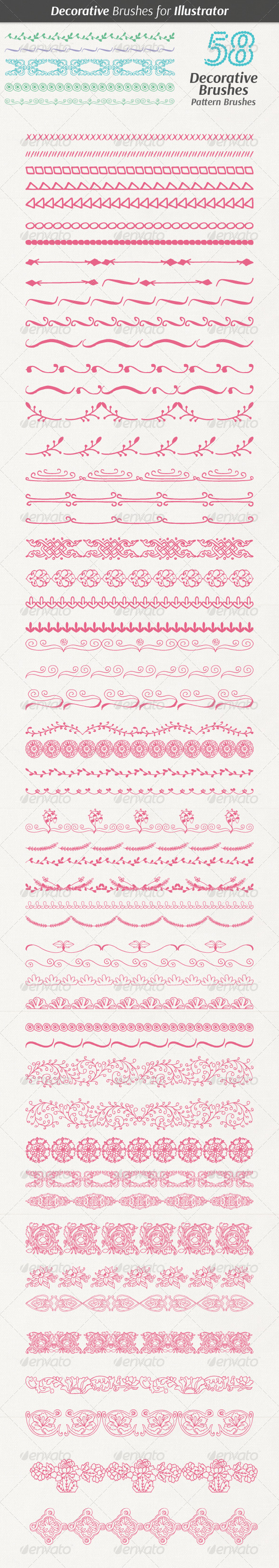 GraphicRiver Decorative Hand Drawn Brushes 7644302