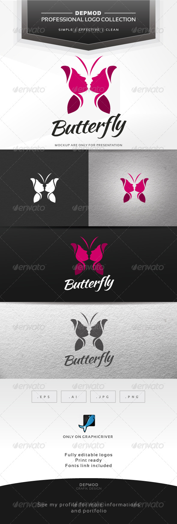 GraphicRiver Butterfly Logo 7644329