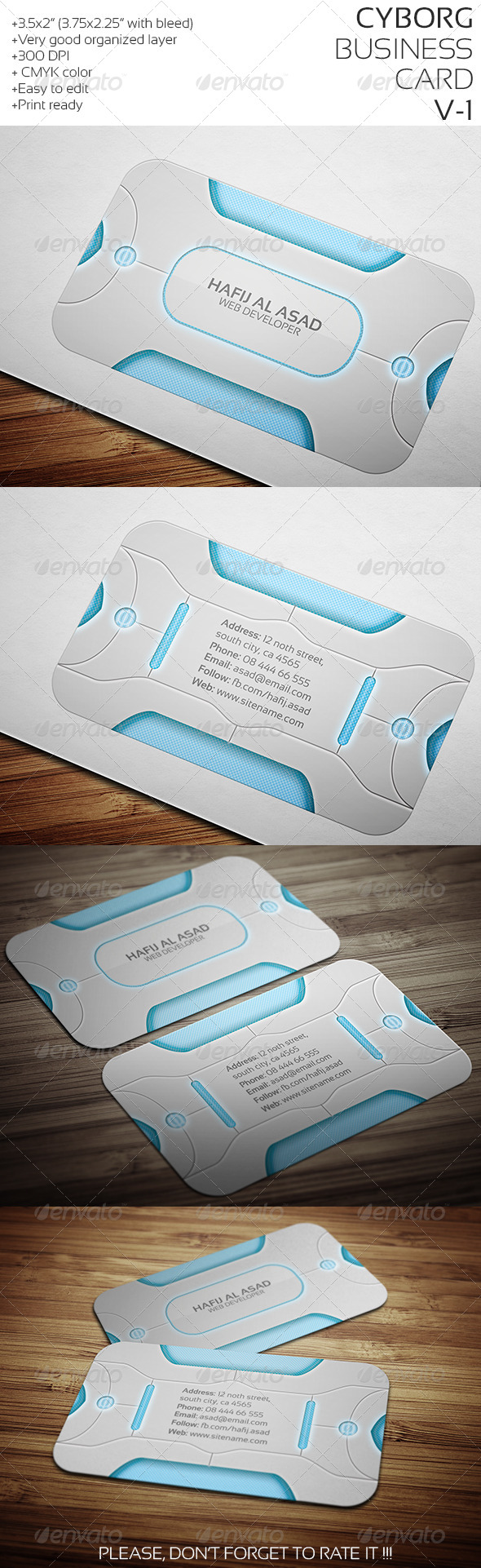 GraphicRiver Cyborg Business Card 7644387