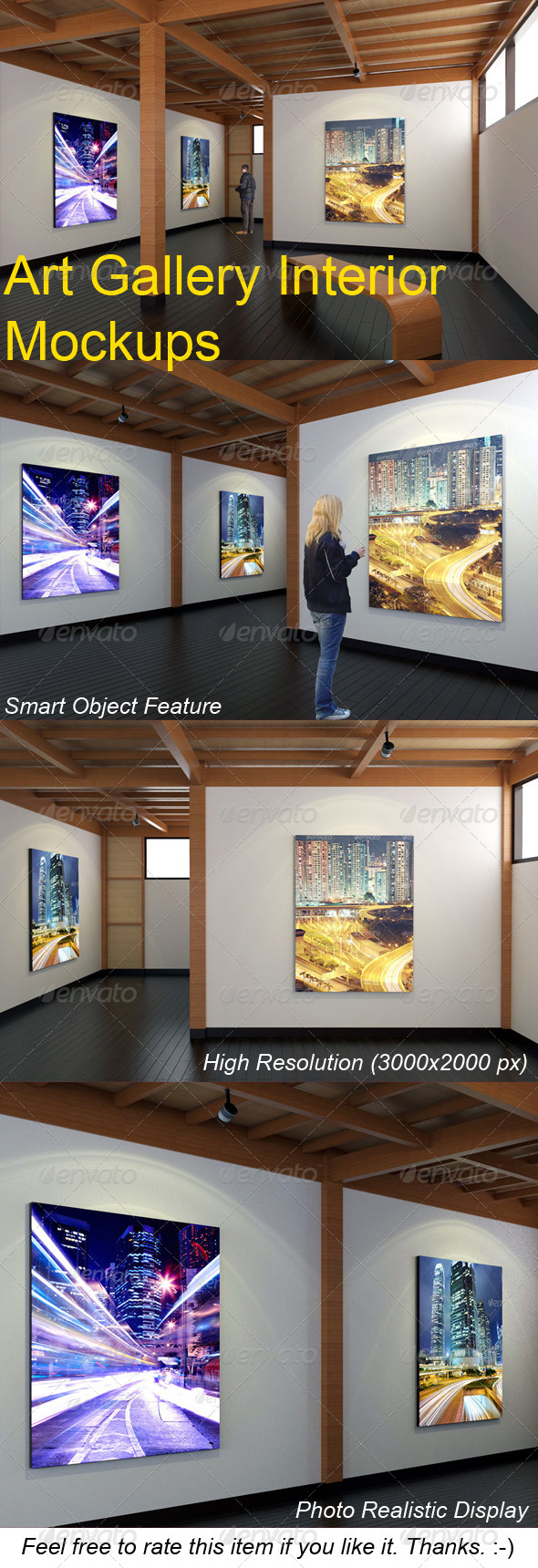 GraphicRiver Art Gallery Interior Mockups 7644390