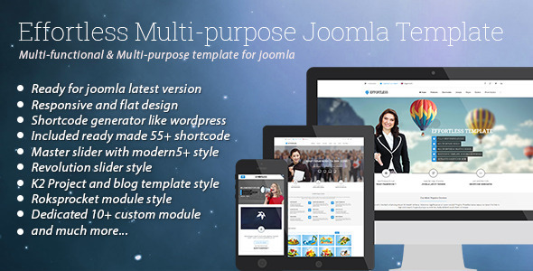 ThemeForest Effortless Multi-purpose Joomla Template 7645155