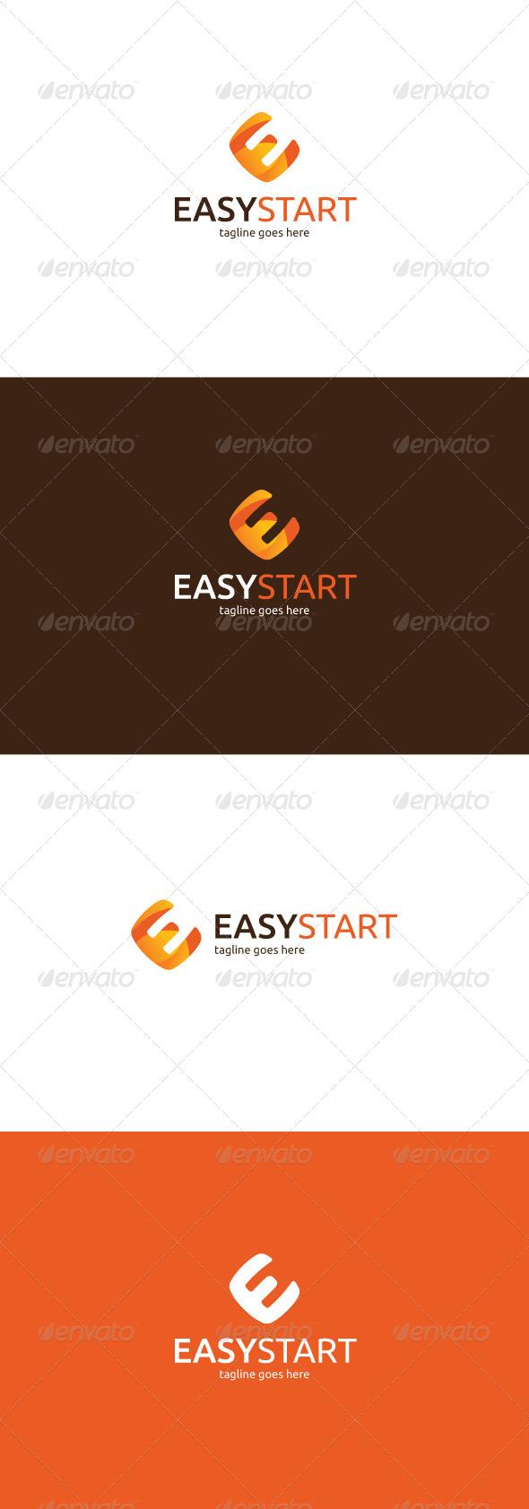 GraphicRiver Easy Start Logo Letter E 7645158