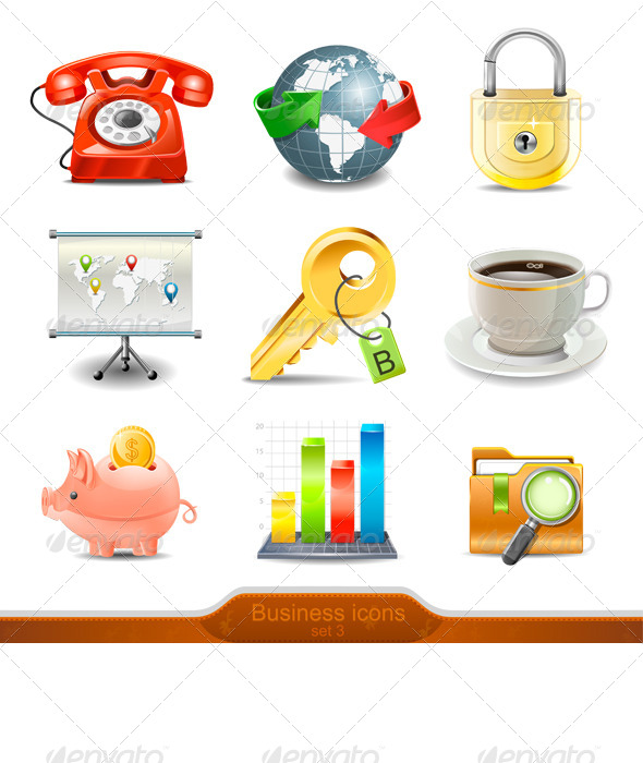 GraphicRiver Business Icons Set 3 7645228