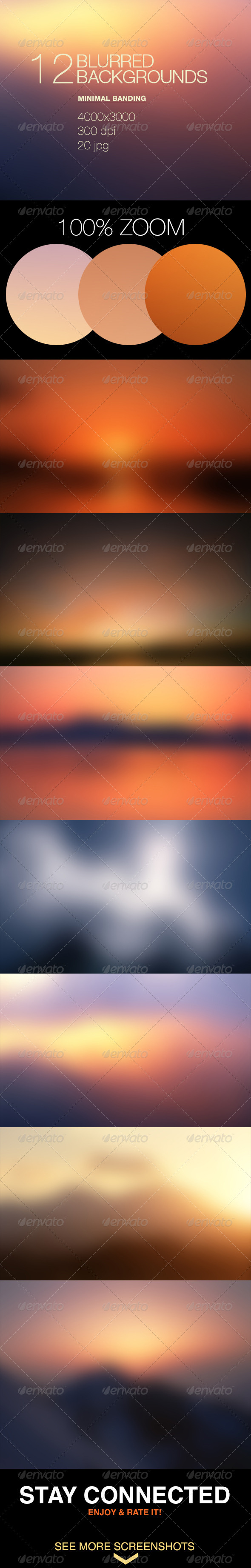GraphicRiver 12 Blur Blurred Backgrounds Set.1 7636389