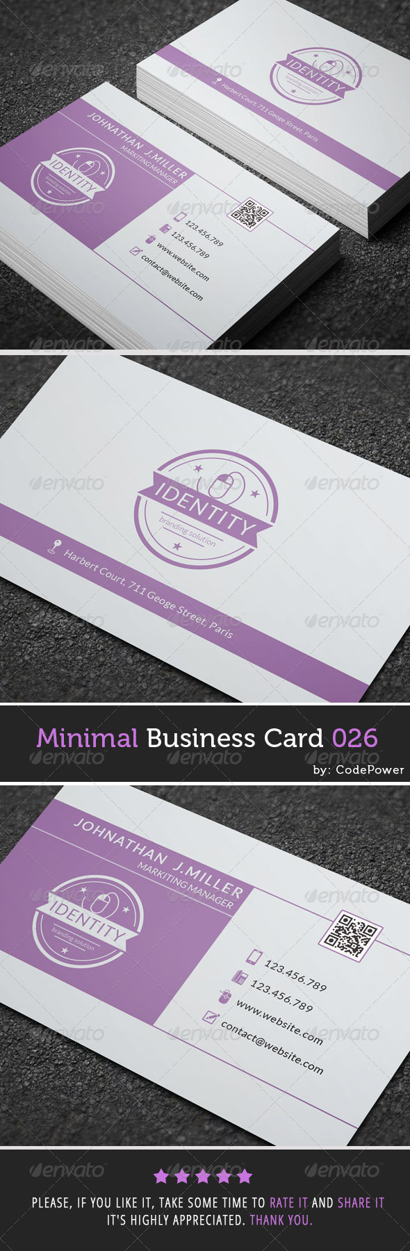 GraphicRiver Minimal Business Card 026 7645298