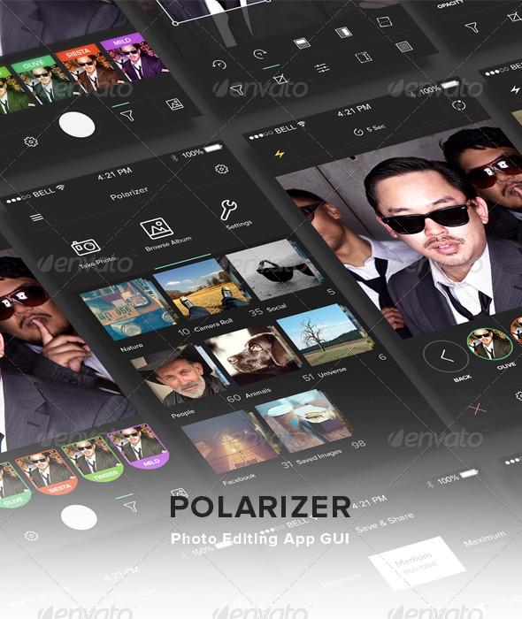 GraphicRiver Polarizer Photo Editing App GUI 7645307