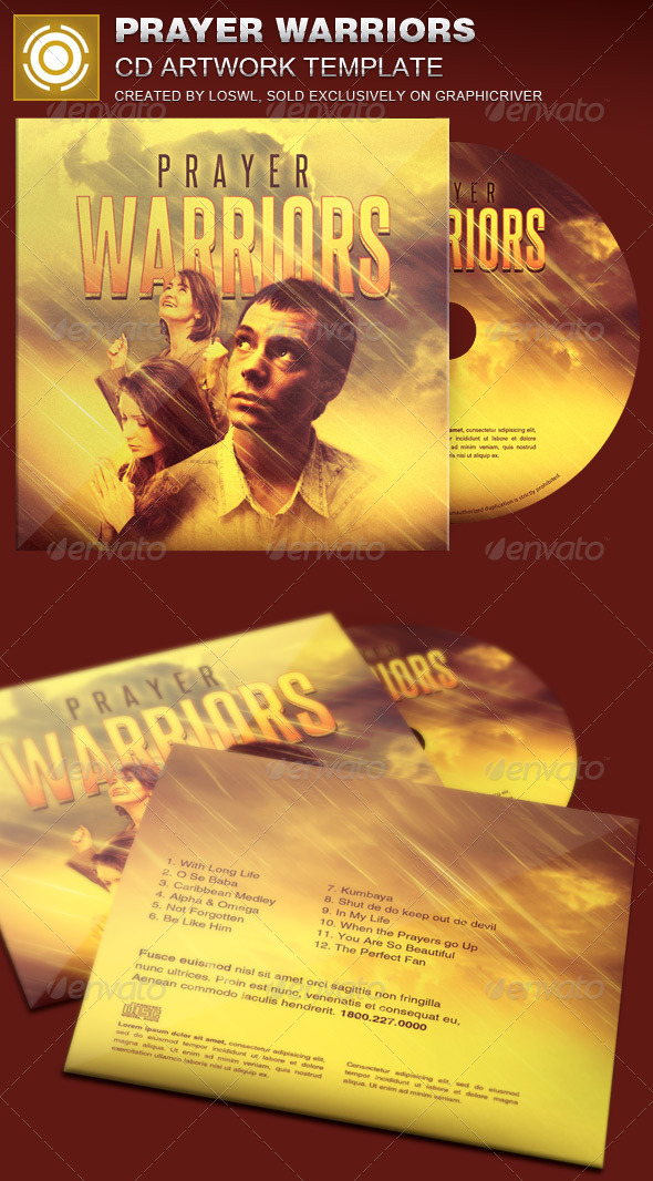 GraphicRiver Prayer Warriors CD Artwork Template 7631447