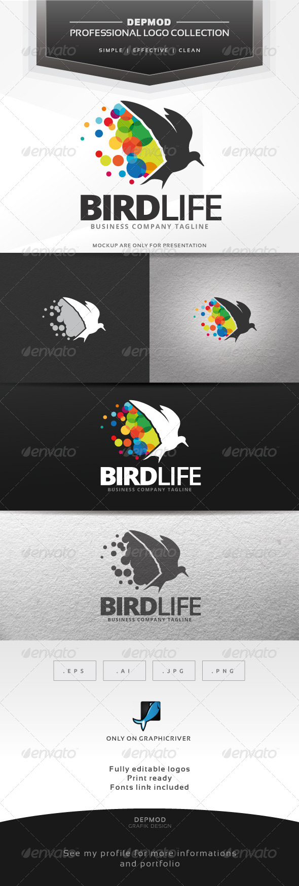 GraphicRiver Bird Life Logo 7645488