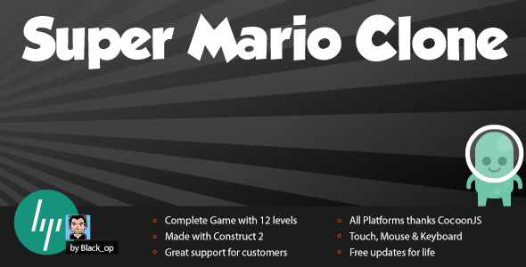 Super Mario Clone - Platformer with Leaderboard - CodeCanyon Item for Sale