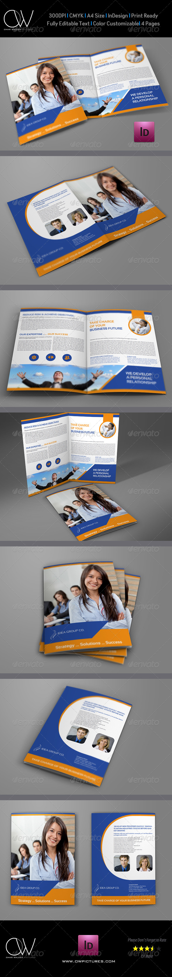 GraphicRiver Company Brochure Bi-Fold Template Vol.27 7645511