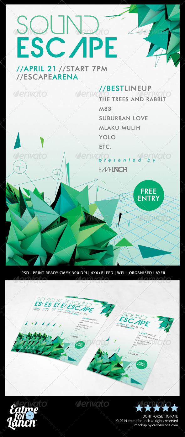 GraphicRiver Minimal Futuristic Abstract Flyer Templates 7645553