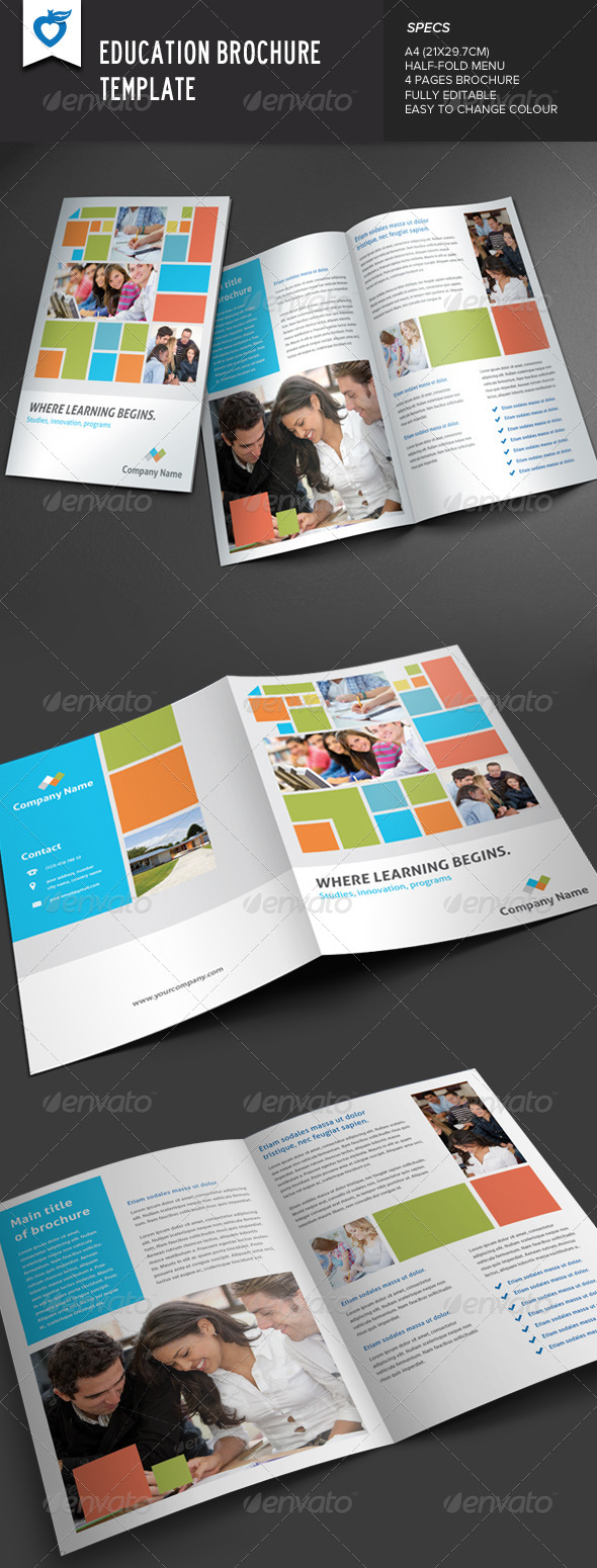 GraphicRiver Education Brochure Template 7645424