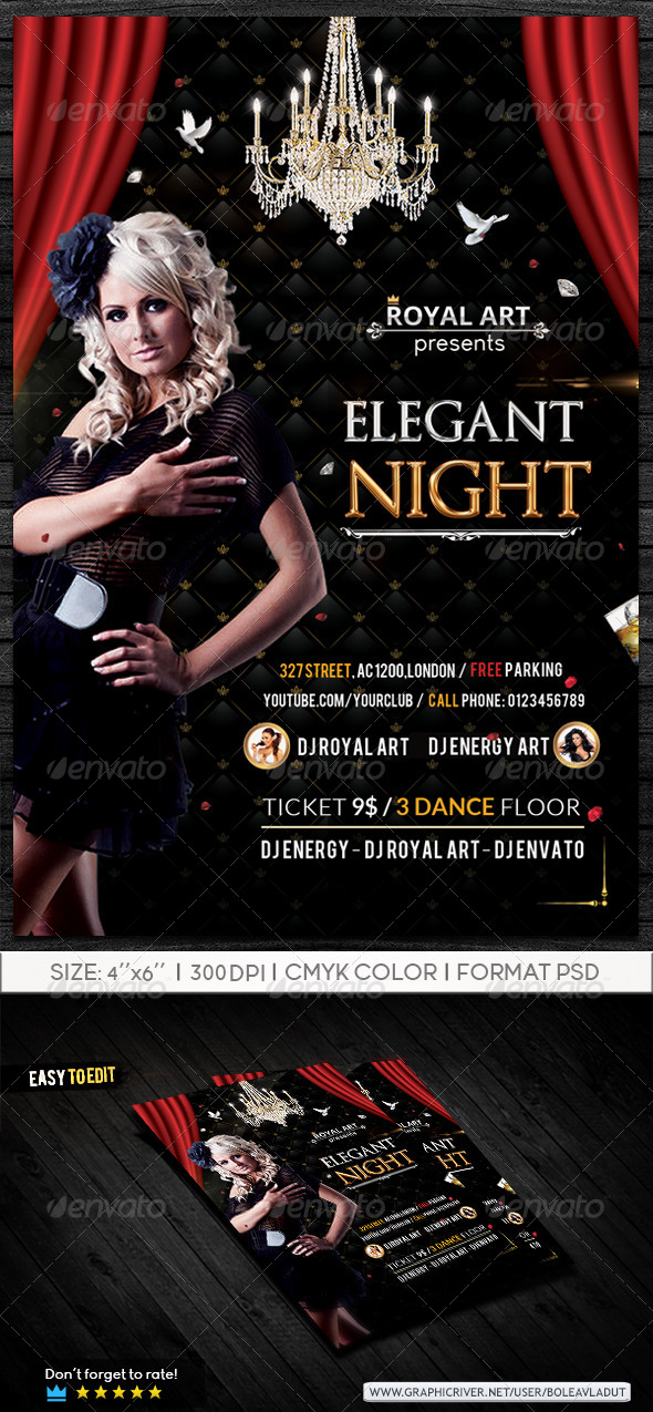 Elegant Night Flyer - Clubs & Parties Events