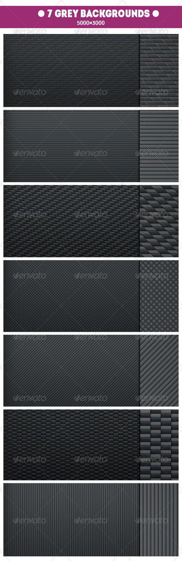 GraphicRiver 7 Grey Backgrounds 7645878