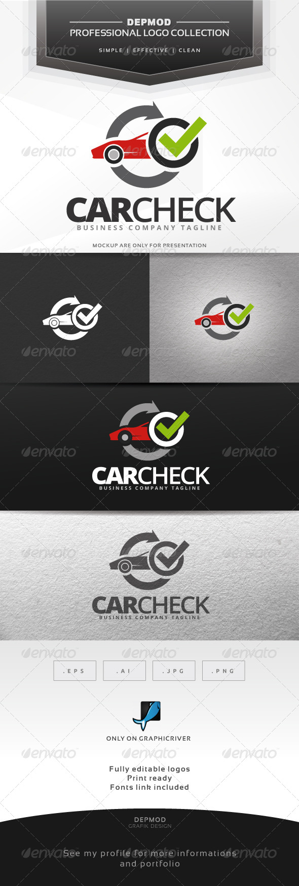 Car Check Logo - Objects Logo Templates