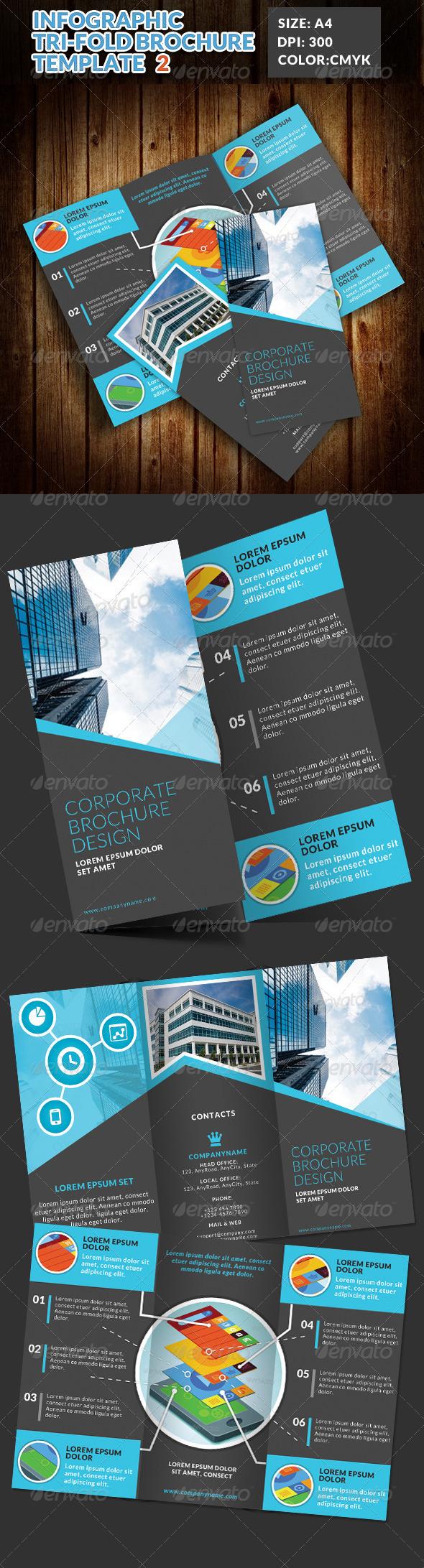 GraphicRiver Infographic Corporate Tri Fold Brochure 2 7646193