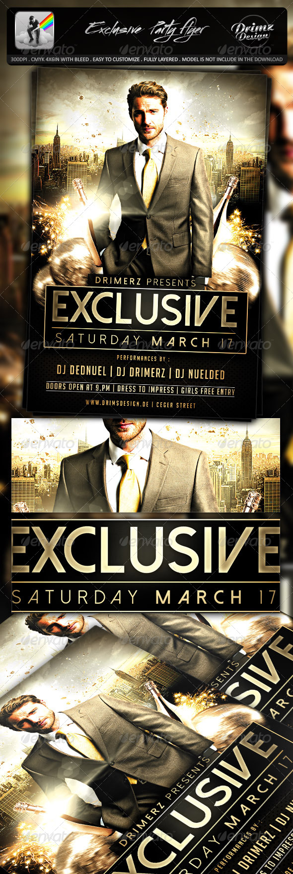 GraphicRiver Exclusive Party Flyer 7646219