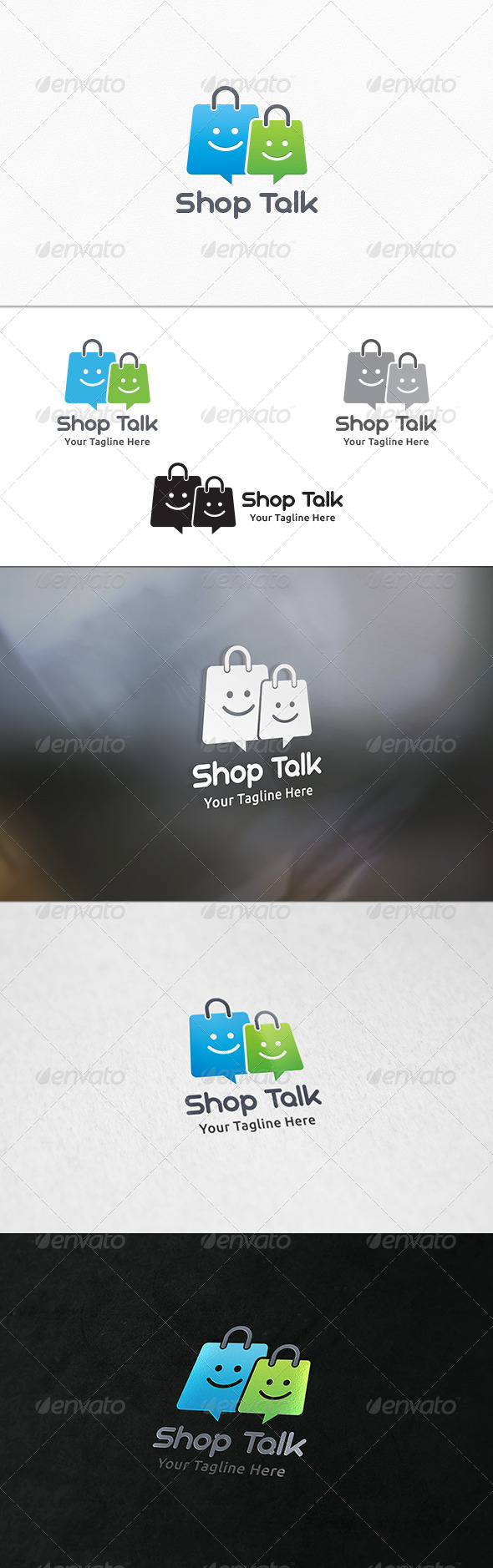 GraphicRiver Shop Talk Logo Template 7646329