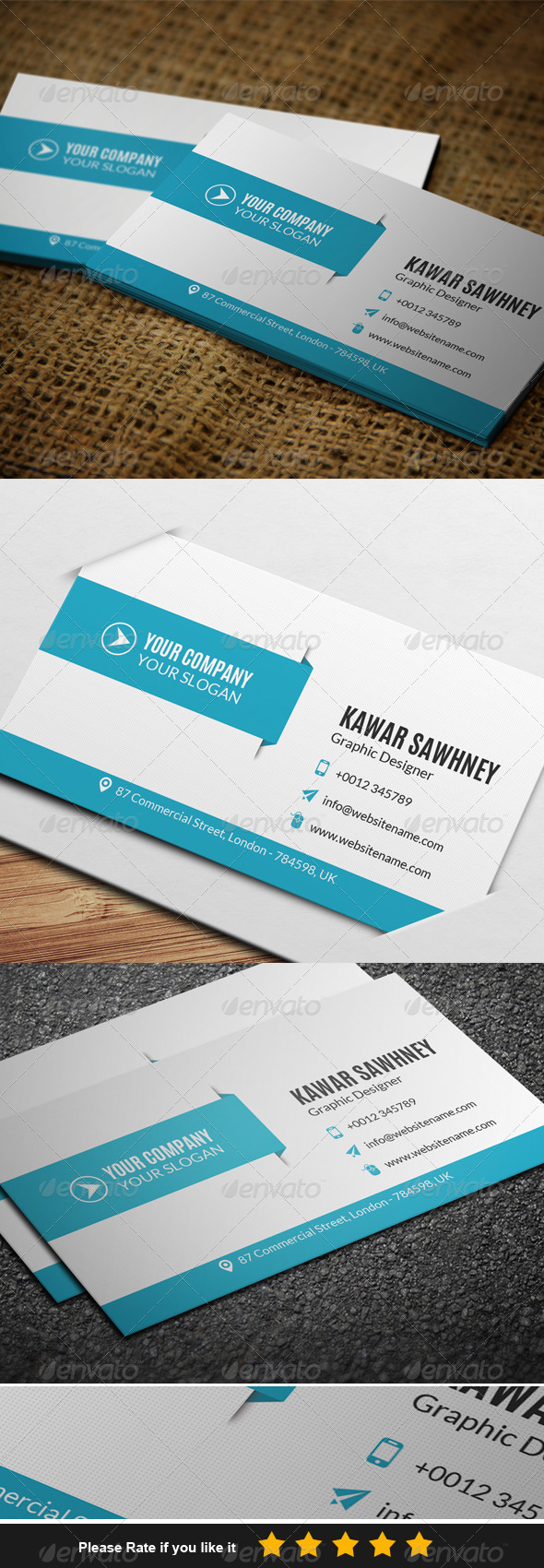 GraphicRiver Corporate Business Card 1 7646575