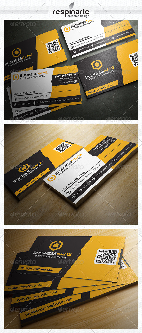 GraphicRiver Corporate Business Card RA14 7646709