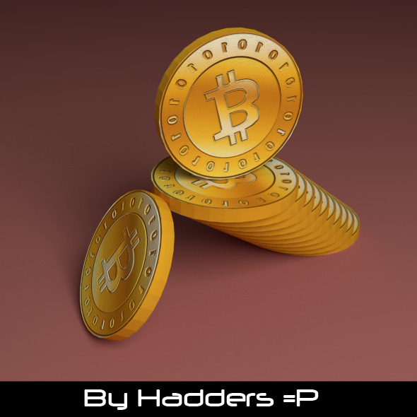 3DOcean 3D Bitcoin stacked 7646817