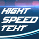 High Speed Text - VideoHive Item for Sale