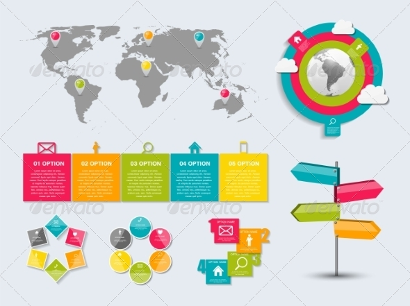 GraphicRiver Collection of Infographic Templates for Business 7646898
