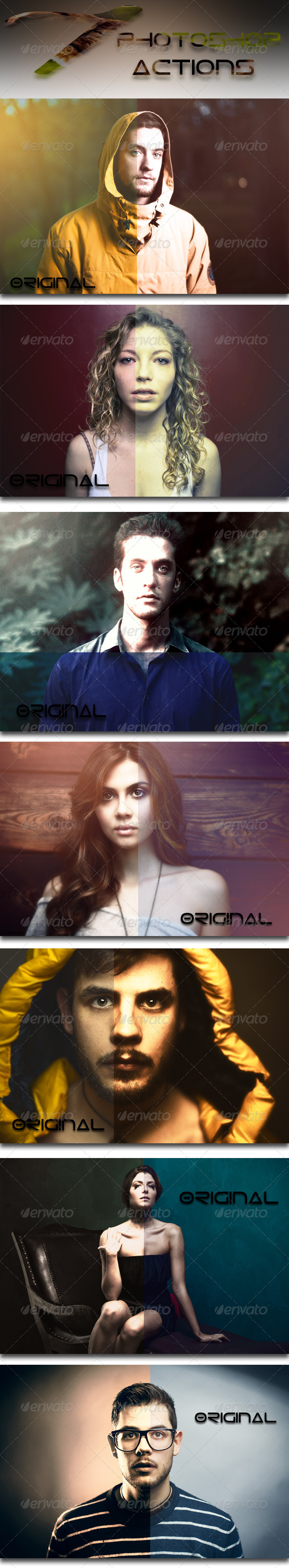GraphicRiver 7 Photoshop Actions 7646901