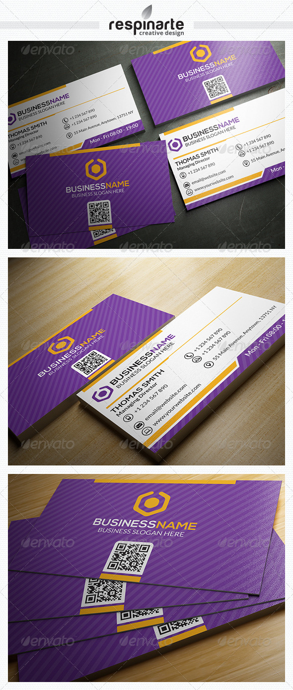 GraphicRiver Corporate Business Card RA16 7646925