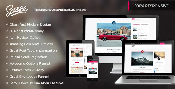 ThemeForest Scratch Premium Wordpress Blog Theme 7647166