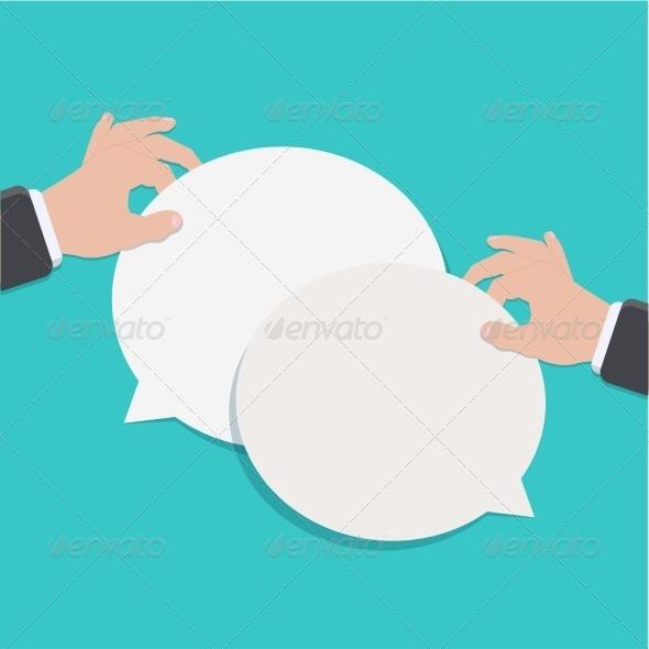 GraphicRiver Modern Flat Bubble Speech 7647189