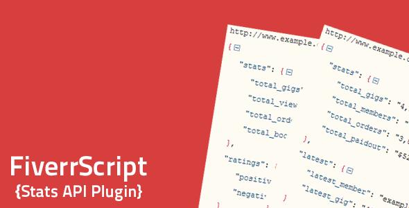 CodeCanyon FiverrScript Stats API 7647739