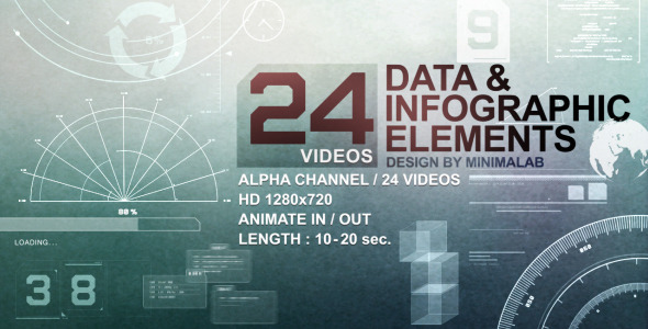 VideoHive 24 Videos Data & Infographic Elements 719051