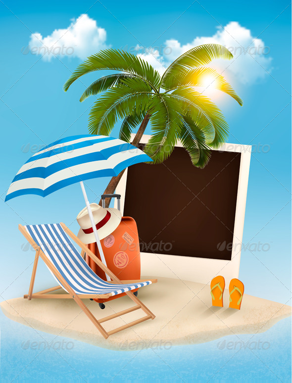 GraphicRiver Summer Vacation Concept Background 7647955