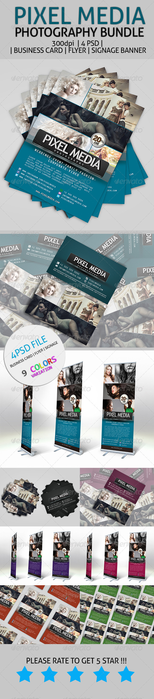 GraphicRiver Pixel Media Photography Bundle 7648021
