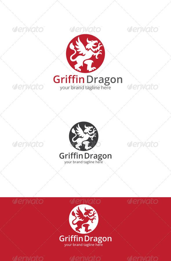 GraphicRiver Griffin Dragon Logo 7648067