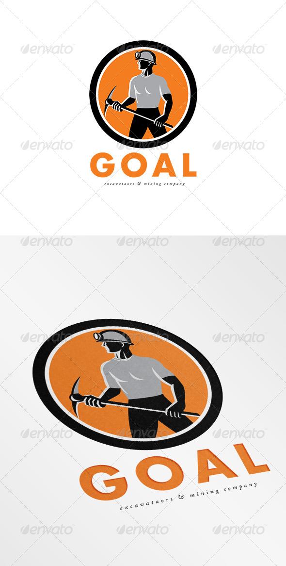 GraphicRiver Goal Mining Company Logo 7648487