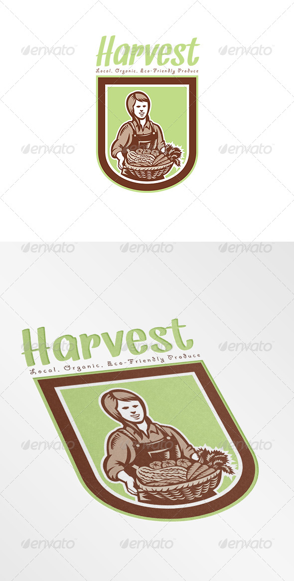 GraphicRiver Harvest Local Organic Produce Logo 7648490