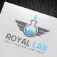 Royal Lab Logo Template