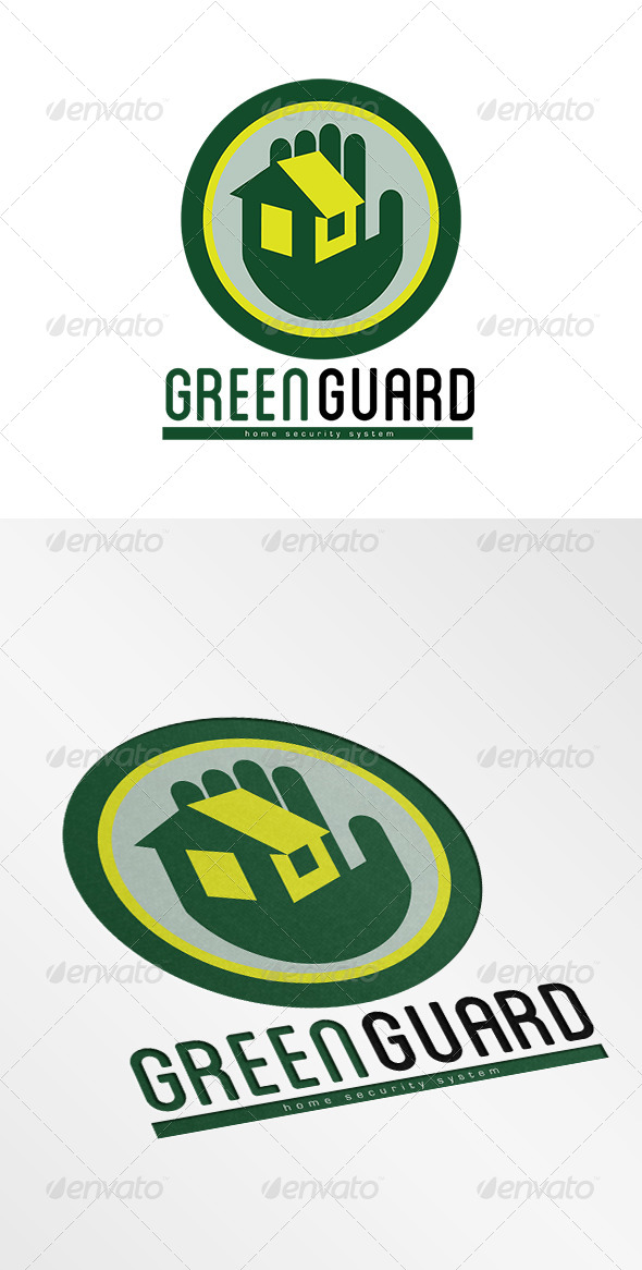 GraphicRiver Green Guard Home Security Systems Logo 7648542