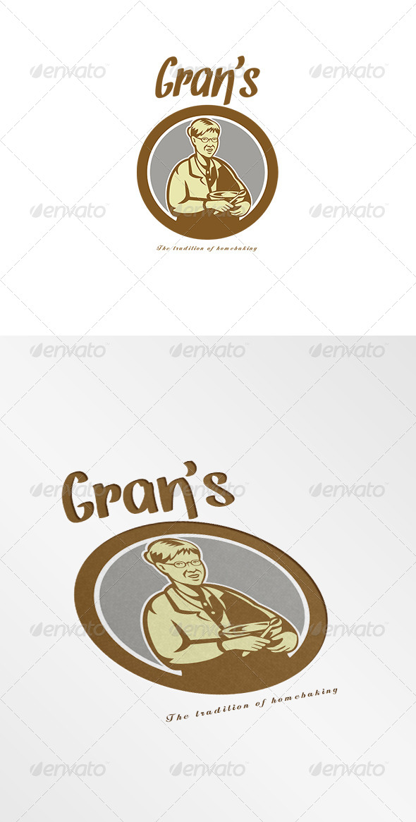 GraphicRiver Gran s Traditional Homebaking Logo 7648567
